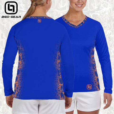 Orange & Blue Camo Performance Top