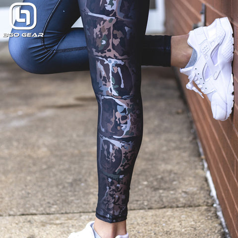 BGO Performance Black Camo Leggings