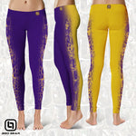 BGO Performance 2-Tone Purple & Yellow Camo Leggings