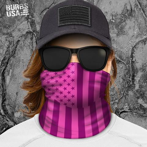 Pink & Purple American Flag Neck Gaiter
