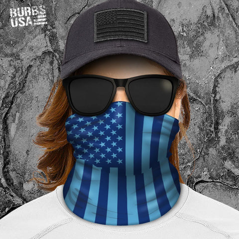 Blue American Flag Neck Gaiter