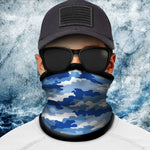 Classic Blue Camo Polar Fleece Headgear