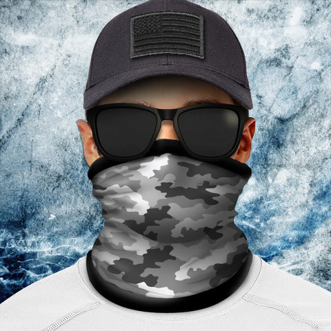 Classic Silver Camo Polar Fleece Headgear