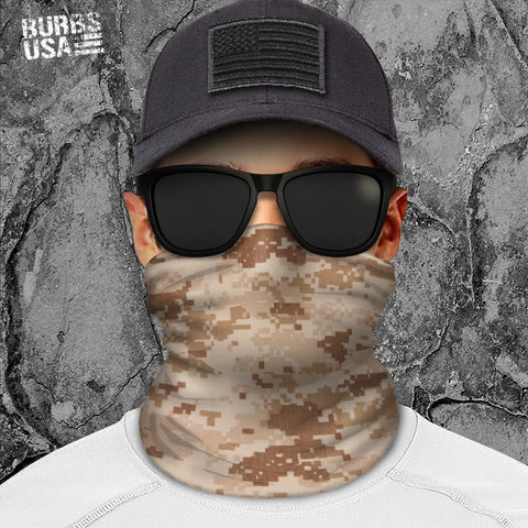 Digital Camo Desert Neck Gaiter