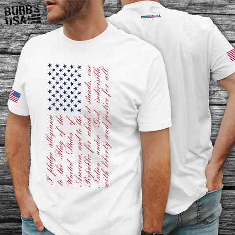 Pledge Flag - Red White & Blue Tee