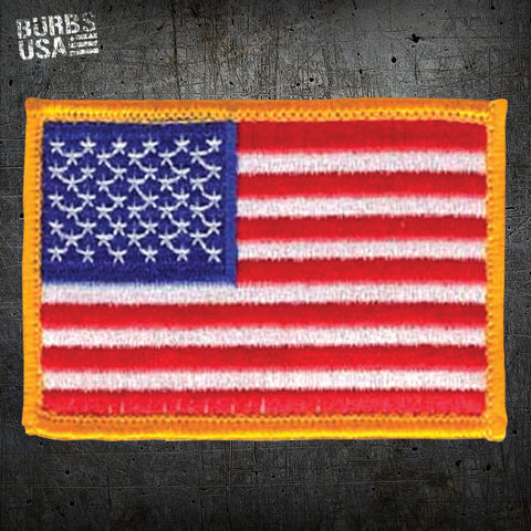 US Flag/Yellow Border Morale Patch