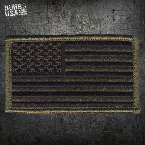 OD Green US Flag Morale Patch