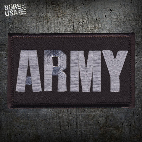 ARMY Silver Morale Patch