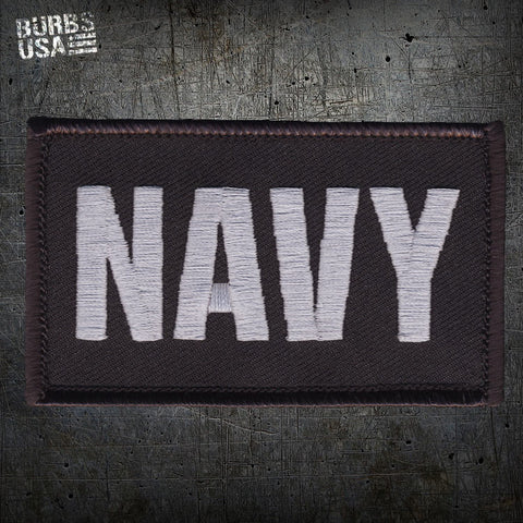 NAVY Silver Morale Patch