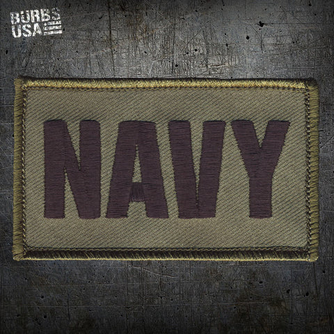 NAVY OD Green Morale Patch