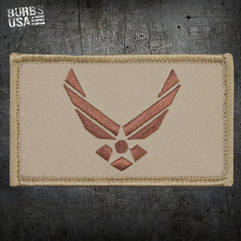 USAF Wings Tan Morale Patch