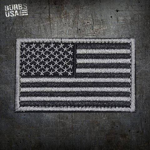 US Black & Silver Flag Patch