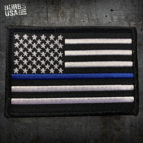 US Flag Thin Blue Line Morale Patch