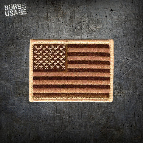 Desert Tan US Flag 1.5 x 2.5 Inch Morale Patch