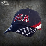 Low Profile USA Embroidered Hat