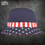Patriotic US Flag Bucket Hat
