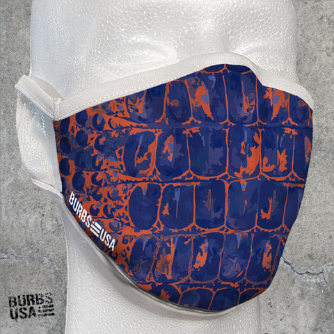 Bullgator Orange & Blue Camo Face Mask