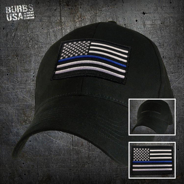 MILITARY REPLICA PERFORMANCE HAT WITH THIN BLUE LINE PATCH
