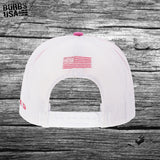 Burbs USA America First Trucker Hat Hot Pink
