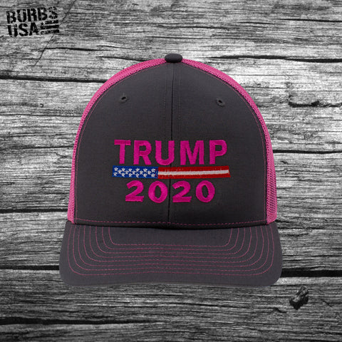 Trump 2020 Trucker Hat Neon Pink