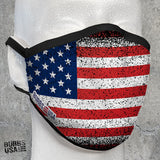 American Flag Grunge Face Mask