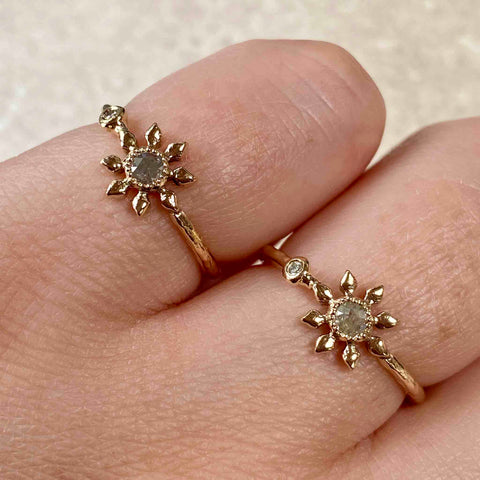 Diamond Flower Ring by Natalie Perry
