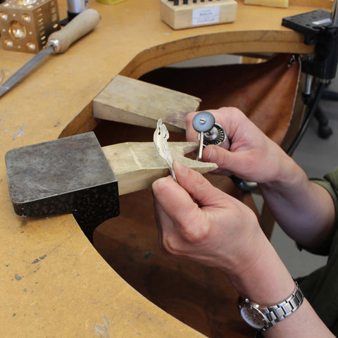 Roberta Pederzoli working on her Enchanted Woods collection