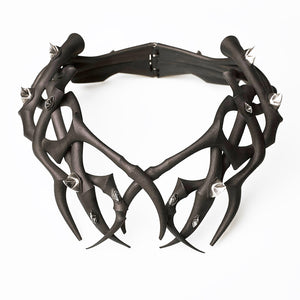 Unique Twisted Tales Black and Silver Thorn Collar