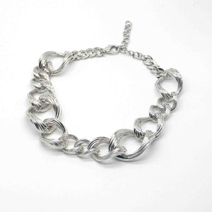 White Gold-Plate Vermeil Chunky Necklace Chain