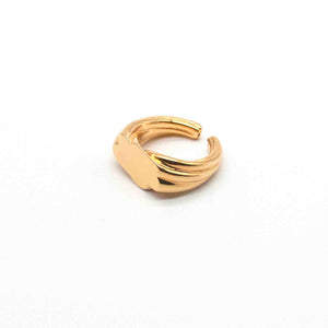 Bold Platform Silver and Gold-Plated Vermeil Ring