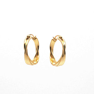 Pair of Ripple Gold-Plated Vermeil Hoop Earrings