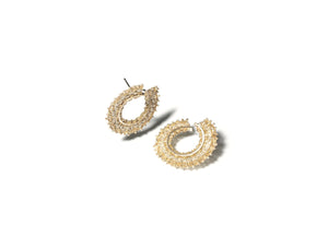 Gold Woven Hoop Earrings