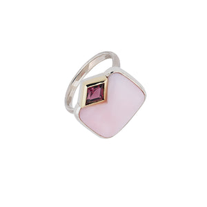 Pink Opal and Rodolith Ring by Katharina Kraus
