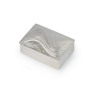 Handmade Chasing Waves Sterling Silver Box and Lid