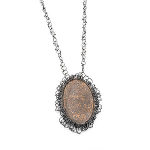 Silver Mokume Gane Necklace by Francesca Urciuoli