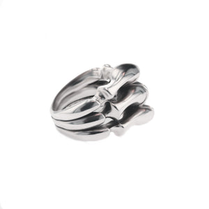 Silver Trilogy Spine Armour Ring by Daisy Grice