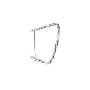 Contemporary Asymmetric Statement Silver and Onyx Brooch