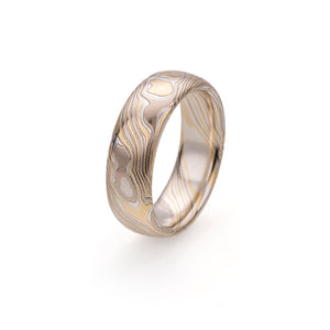 Silver and Gold Mokume Gane Ring by Francesca Urciuoli