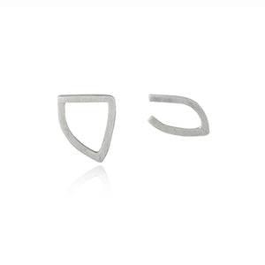 Non-Identical Sterling Silver Sketch Stud Earrings