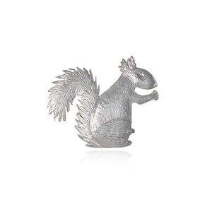 Handmade Sterling Silver Squirrel Pin Brooch