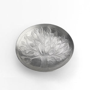 Sterling Silver 'Tree of Life' Handmade Dish Plate