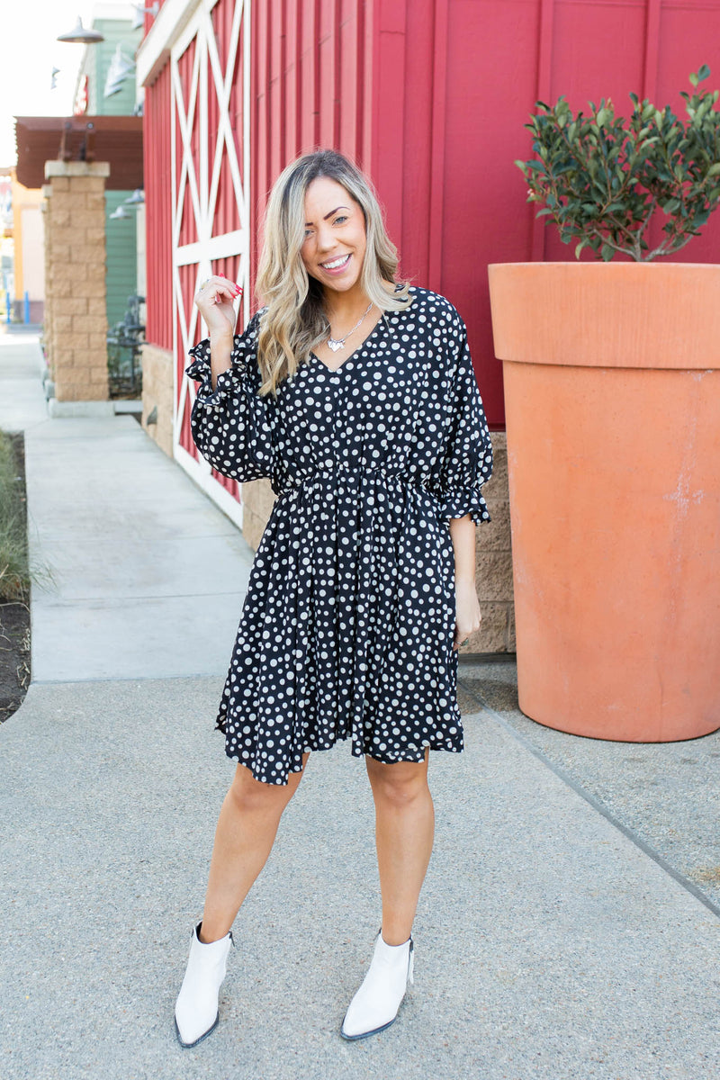 Hotty Dotty Woven Dress