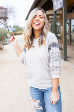 Lovely Ombre Floral Dolman