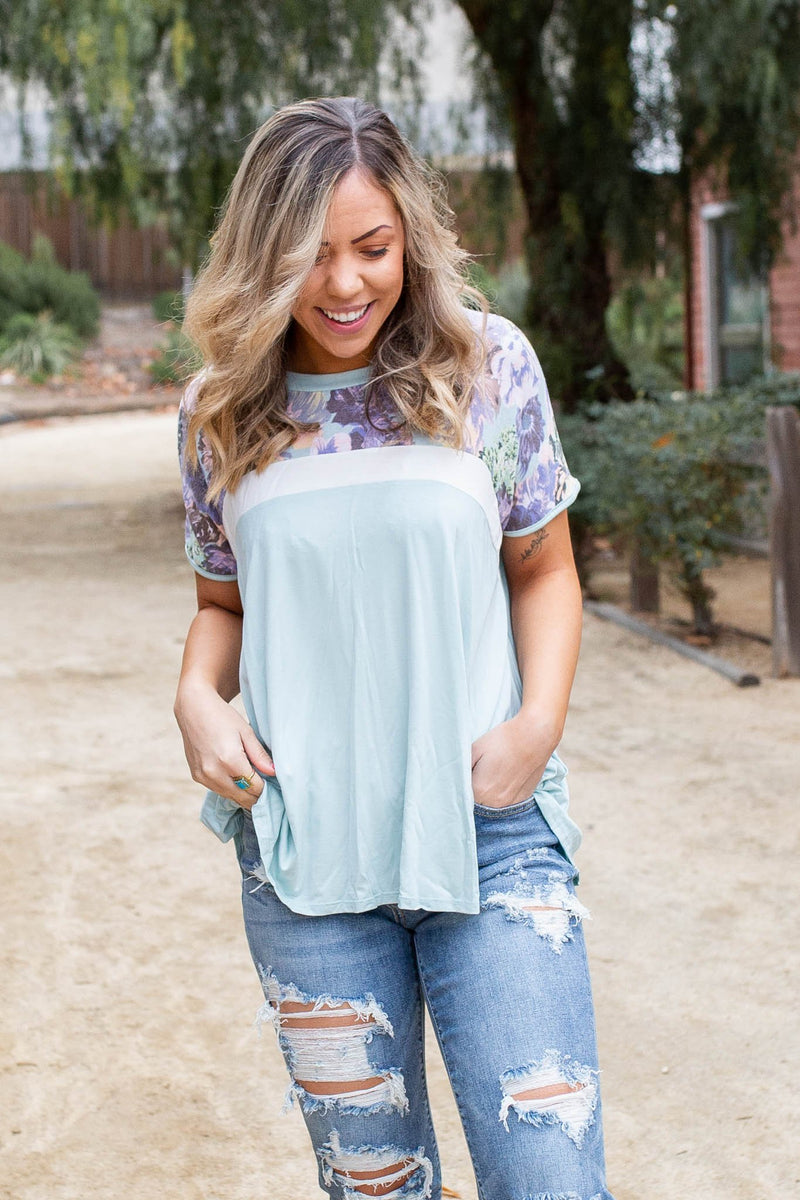 Spring Melody Colorblock Top