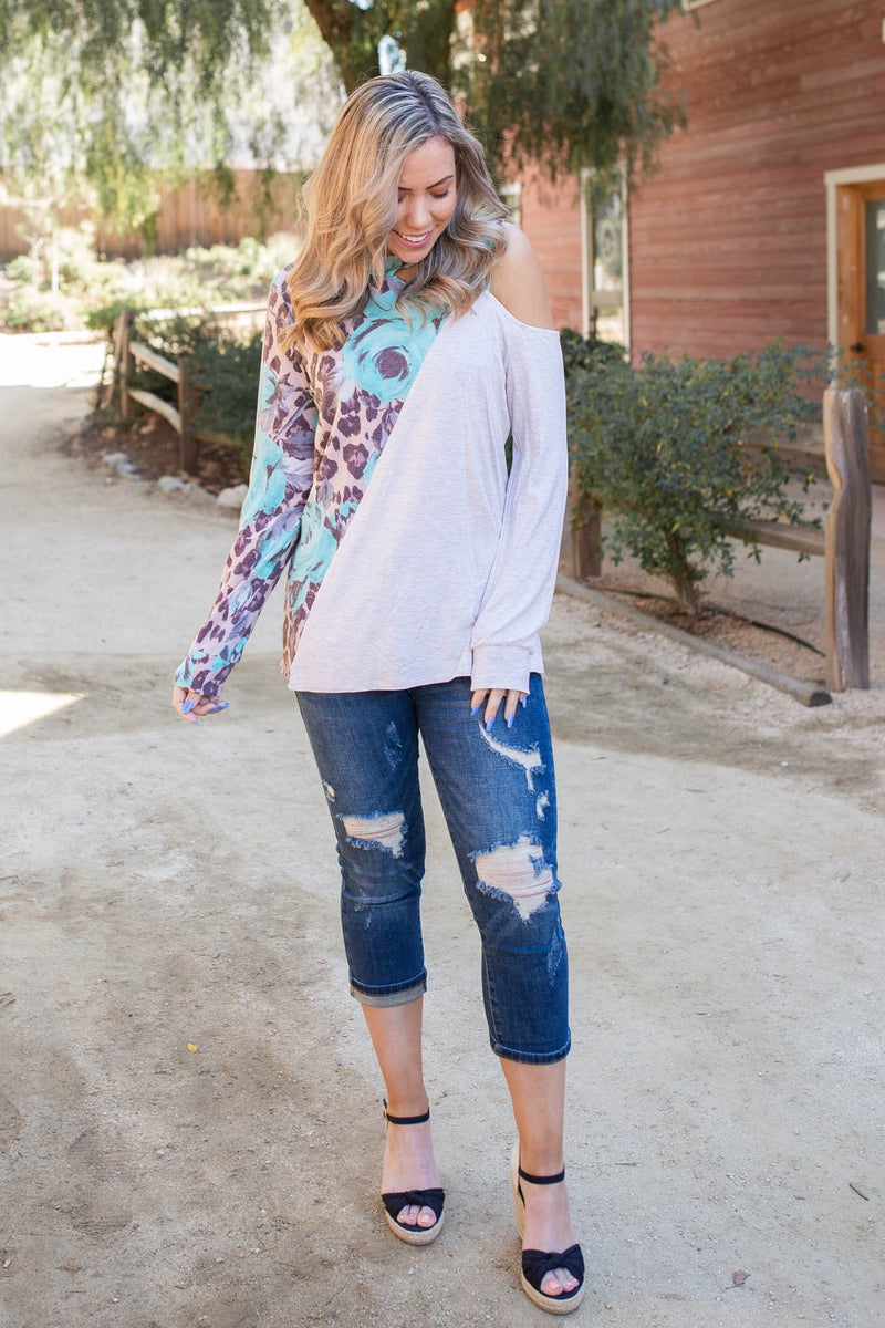 Naturally Divided Long Sleeve Top