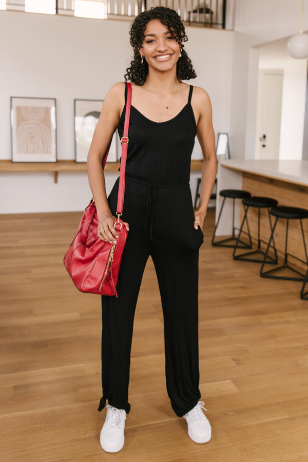 Cool Breeze Jumpsuit In Black