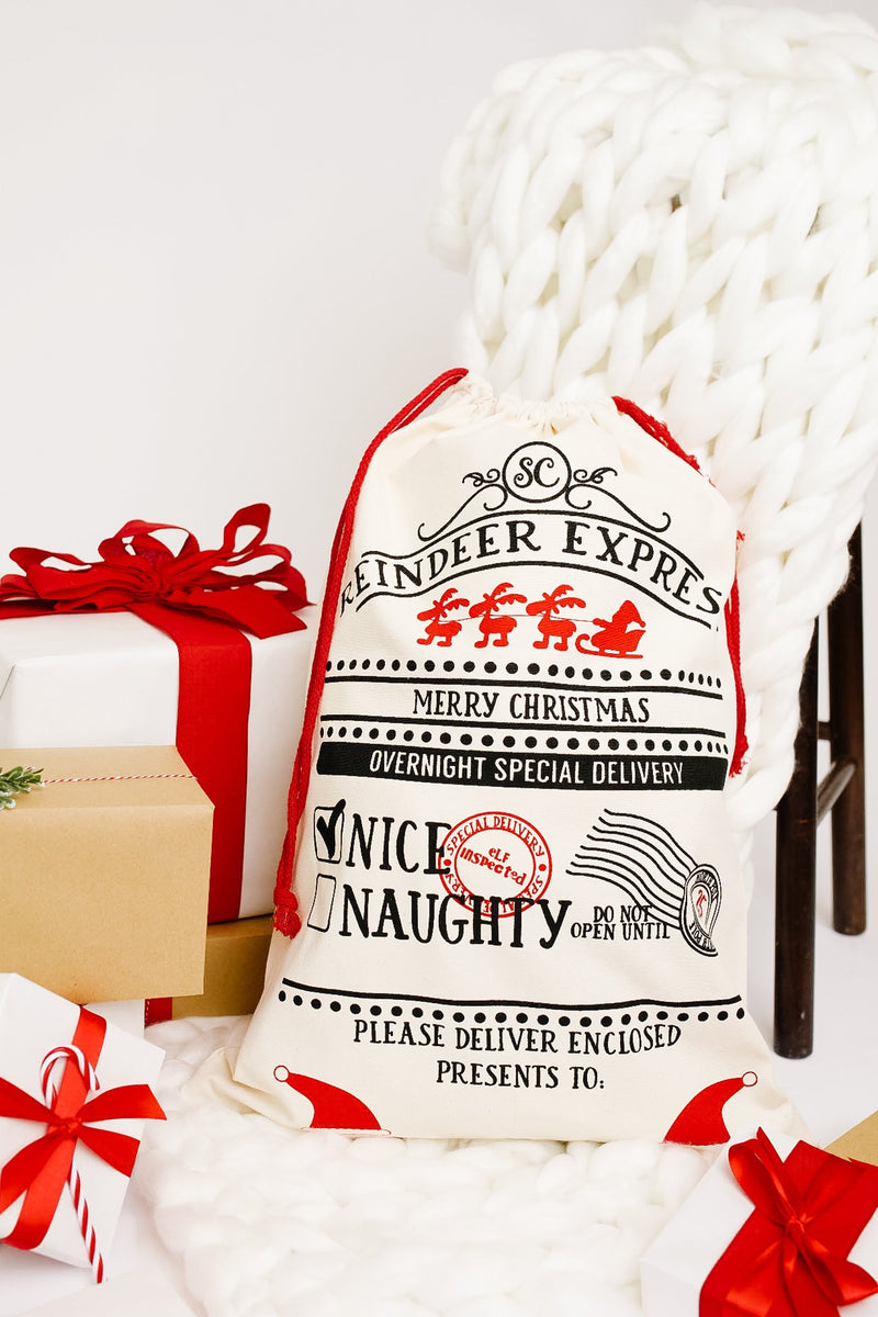 The Reindeer Express Santa Sack