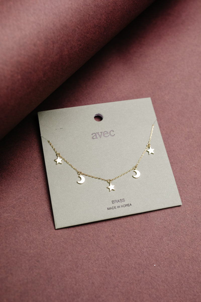 Starry Night Gold Necklace