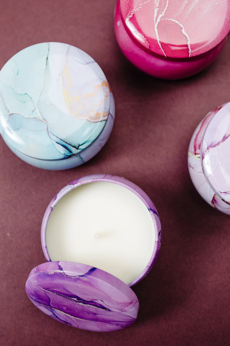 Merry Marbled Candles