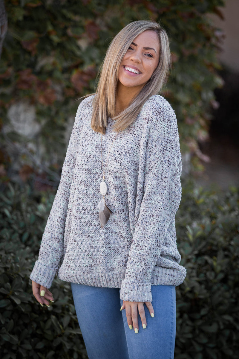 Cloudy Days Knit Sweater
